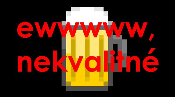 pixelated beer