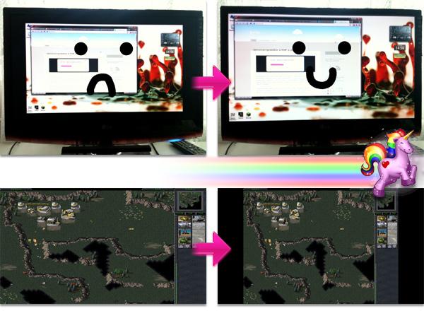 Rozťahovanie obrazu a overscan s ATI ovládačmi