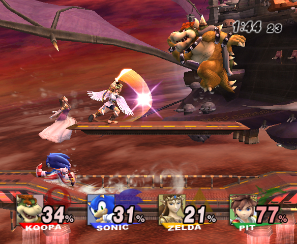 Screenshot zo Super Smash Bros. Brawl